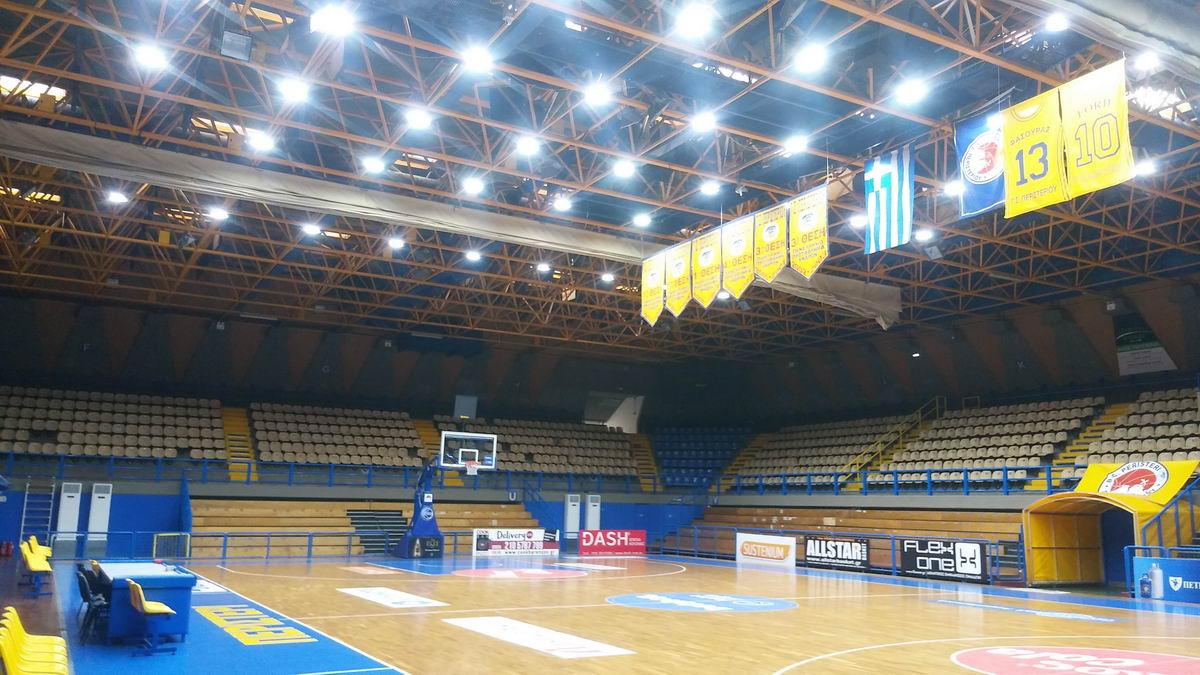 Φωτισμός LED – Κλειστό Γήπεδο Μπάσκετ Περιστερίου