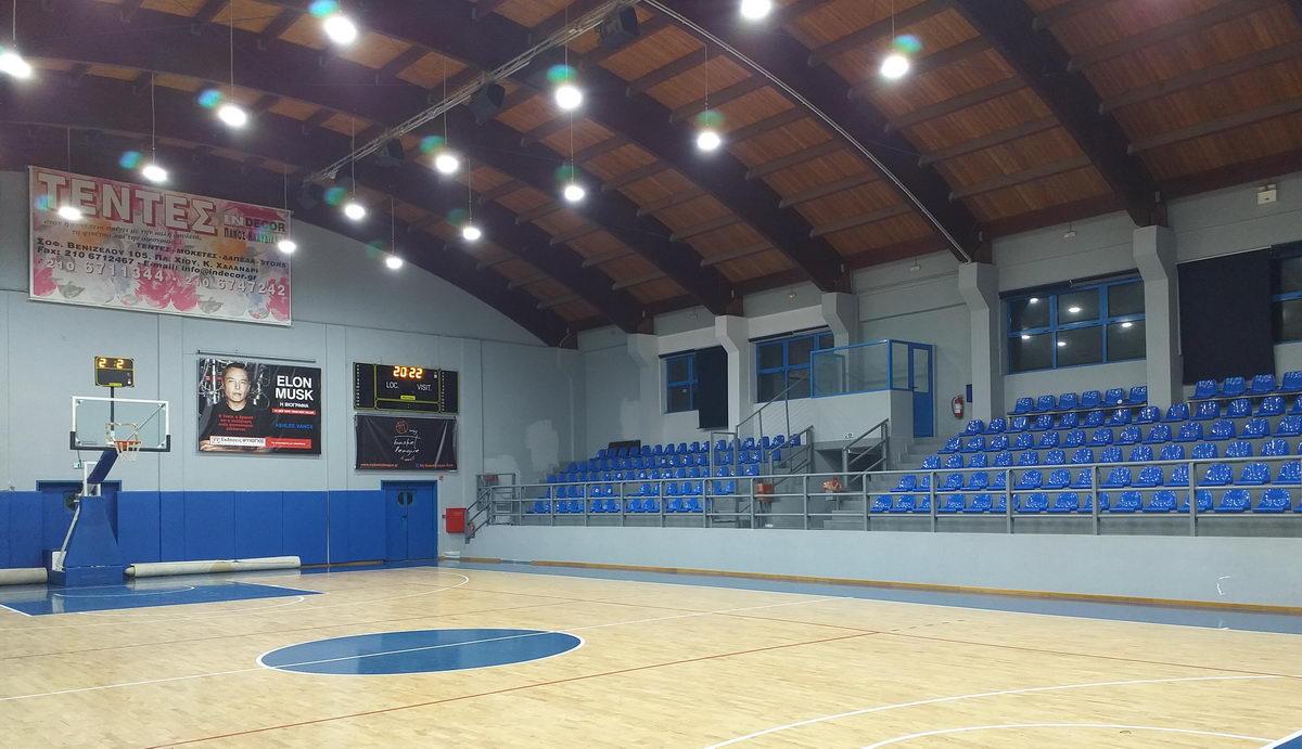 Φωτισμός LED – Κλειστό Γυμναστήριο Πεντέλης